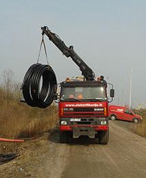 GINAF M3329 elektrifikacijos paslaugos nuomojama iranga grezimui